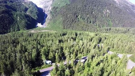 Aerial Video of Williwaw Campground