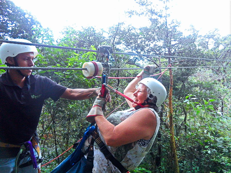 Connie on the Zip Line