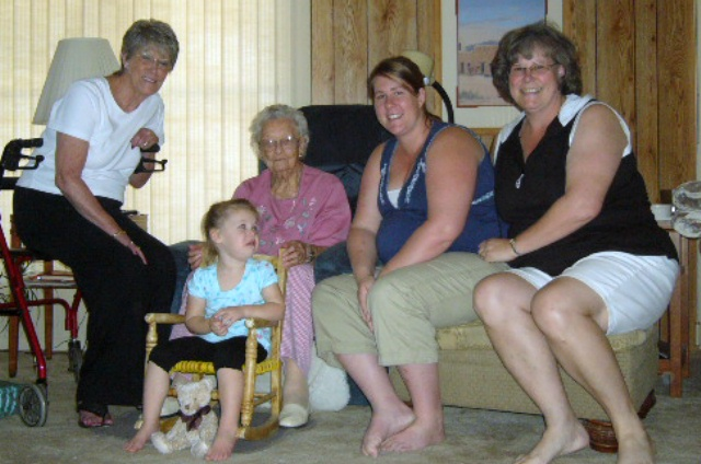 5 Generations of the girls.