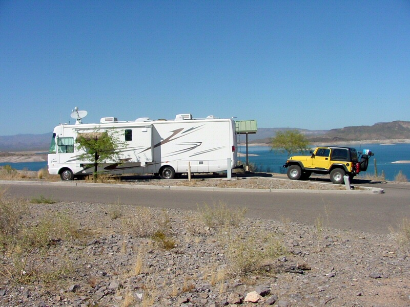 Camping at Lake Pleasant, AZ