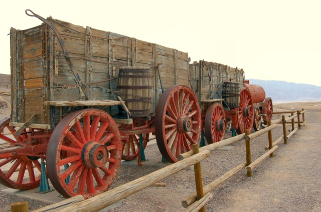 20 Mule Team Wagons, Death Valley, CA