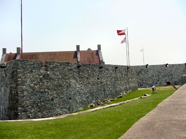 The inner walls of the fort.