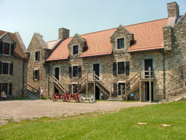 Inside Fort Ticonderoga.