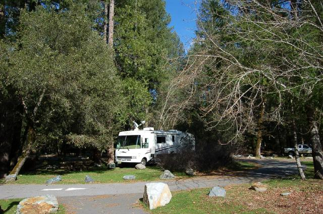 Our site at Indian Valley Campground, CA