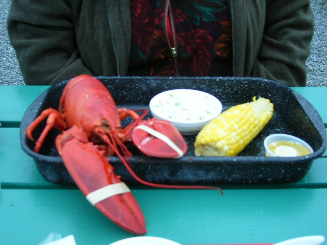 Connie's Maine Lobster dinner.