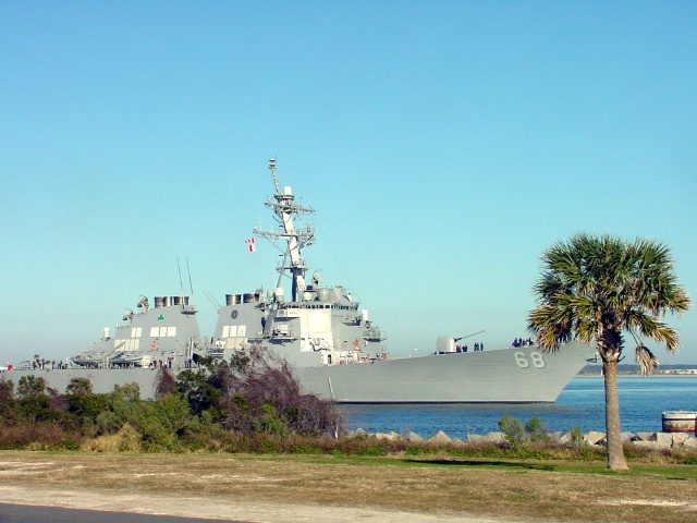 Shipping past us in Mayport, FL.