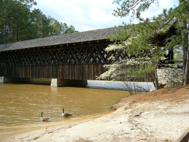 Covered Bridge built in 1891, now at Stone Mountain, GA