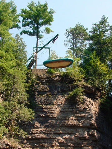 Lowering the raft in the AuSable Chasm