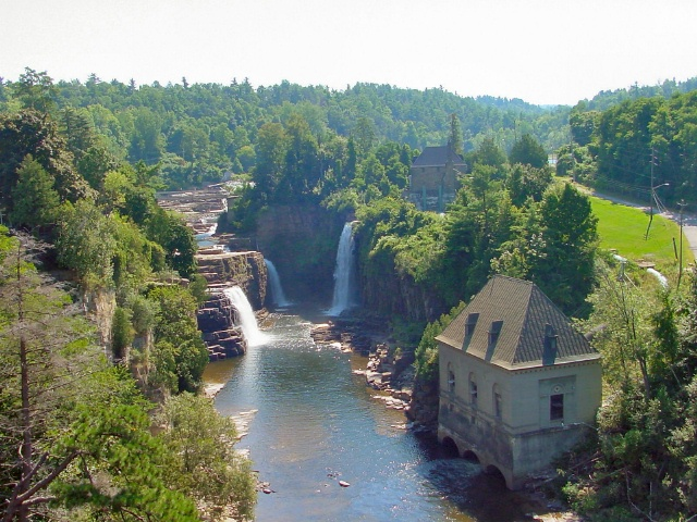 Rainbow Falls on the AuSable River