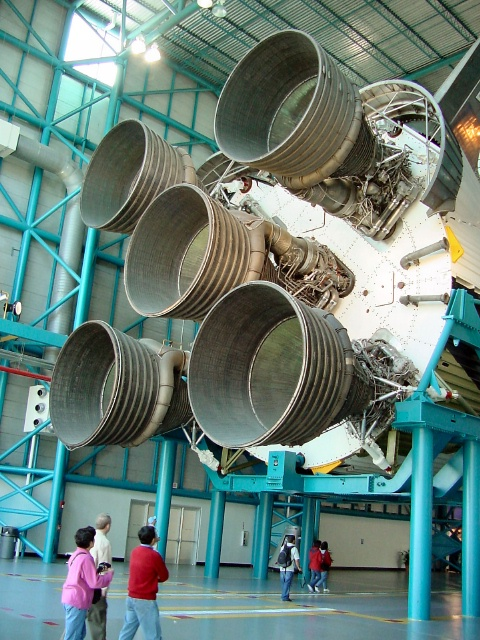 Saturn V Rocket used for the Apollo Moon missions.