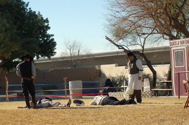 Skit during the Gunfighter's Gathering.