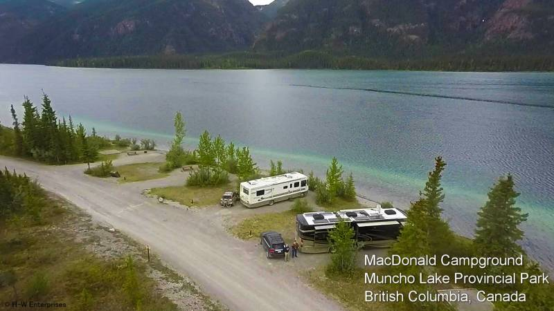 Muncho lake bc campgrounds with hookups