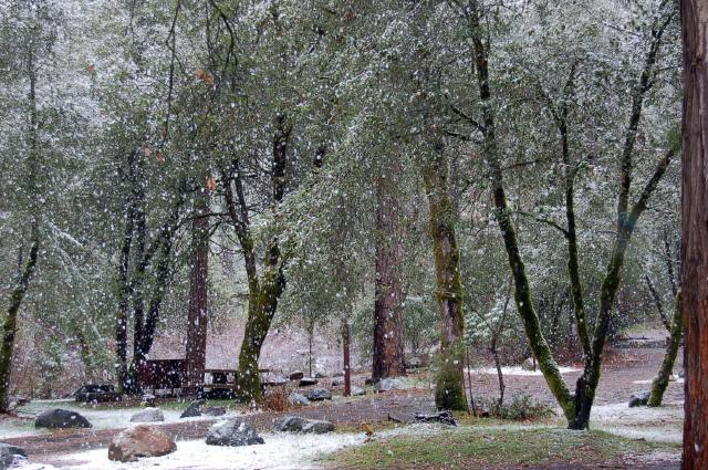 Snow at Indian Valley Campground